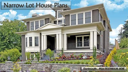 Click to view Narrow Lot House Plans.