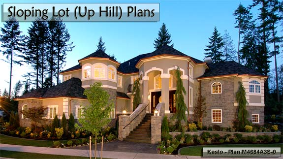Click to view Sloping Lot Uphill Plans.