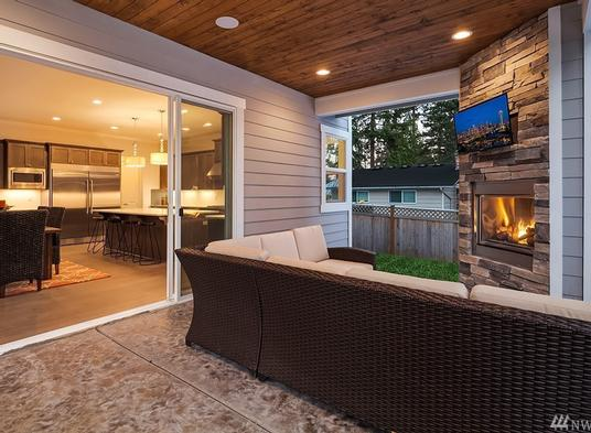 Covered BBQ Porch
